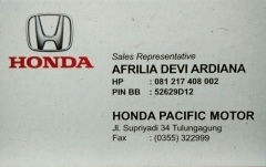 id card marketing honda tulungagung