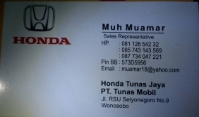 id card marketing honda wonosobo