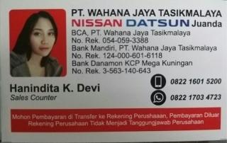 id card marketing nissan tasikmalaya