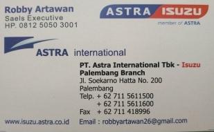 kartu nama 5906 isuzu palembang