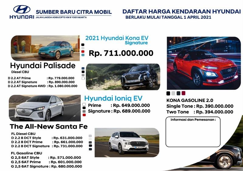 Harga Mobil Hyundai Yogyakarta 2021